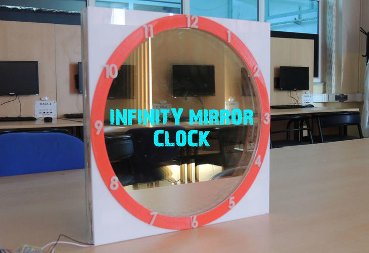 INFINITY MIRROR CLOCK UPDATED VERSION 3D Print 196146