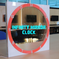 Small INFINITY MIRROR CLOCK UPDATED VERSION 3D Printing 196146