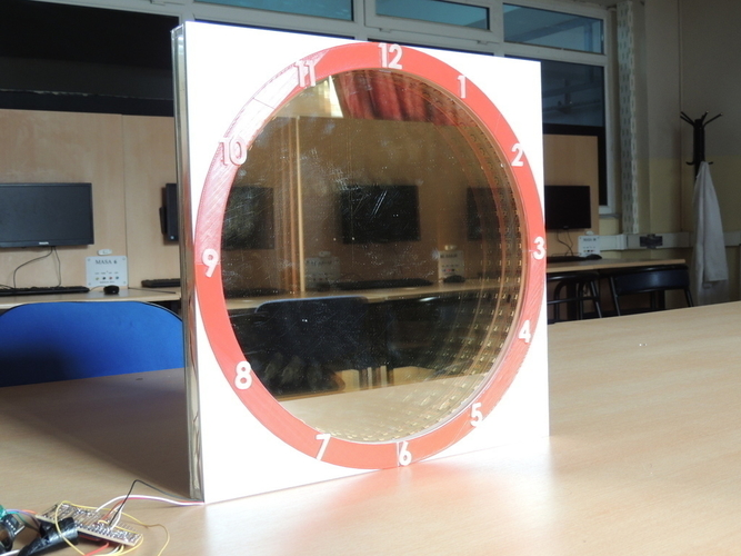 INFINITY MIRROR CLOCK UPDATED VERSION 3D Print 196149