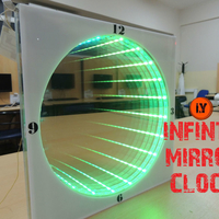 Small HOW TO MAKE AN INFINITY MIRROR CLOCK  3D Printing 196163