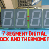Small 7 SEGMENT DIGITAL CLOCK AND THERMOMETER   3D Printing 196165