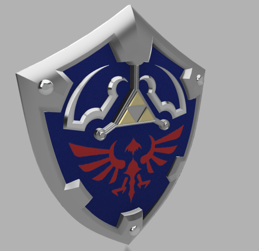HYLIAN SHIELD from the Legend Of Zelda (Life size)  3D Print 196172