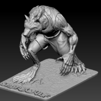 Small Sabrewulf from Killer Instinct Game 3D Printing 196180