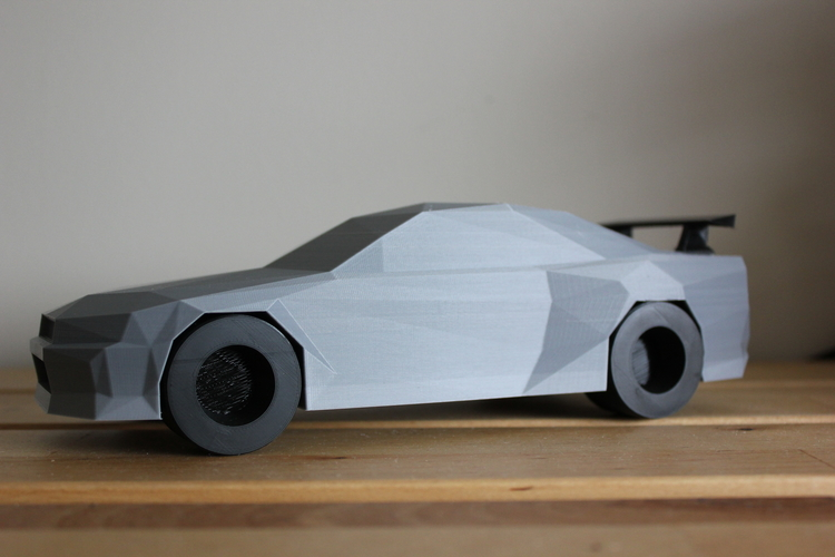3d printed low poly nissan skyline r34 gtr by dominimadesign pinshape