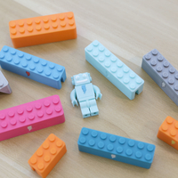 Small Webcam Cover-Up Lego brick with Adabot Mini Fig 3D Printing 196321
