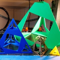 Small Caged Tetrahedron puzzle 4X 3D Printing 196379