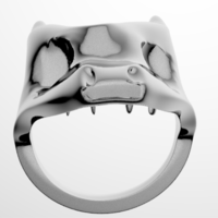Small Dragon Ring  3D Printing 196422