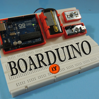 Small BOARDUINO – ARDUINO ALL IN ONE BREADBOARD STAND 3D Printing 196424