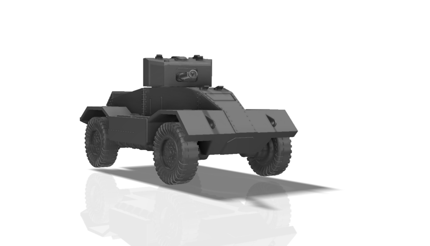 BRITISH ARMORED CAR, HEAVY, WWII 3D Print 196433