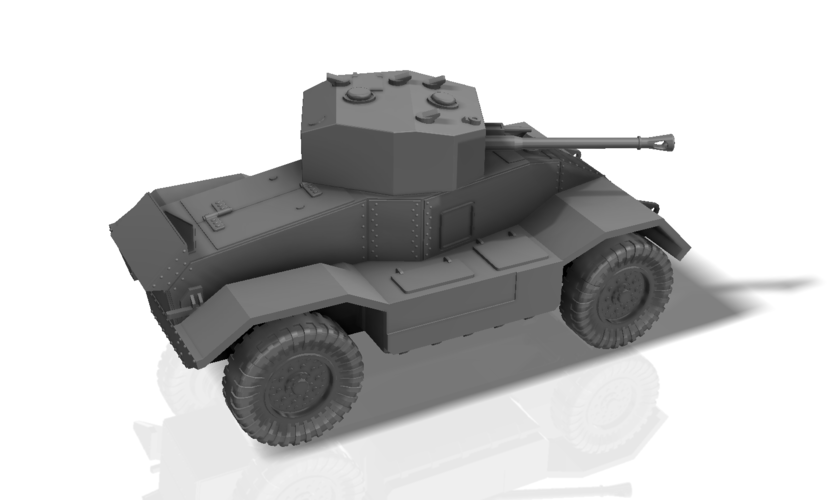 BRITISH ARMORED CAR, HEAVY, WWII 3D Print 196434