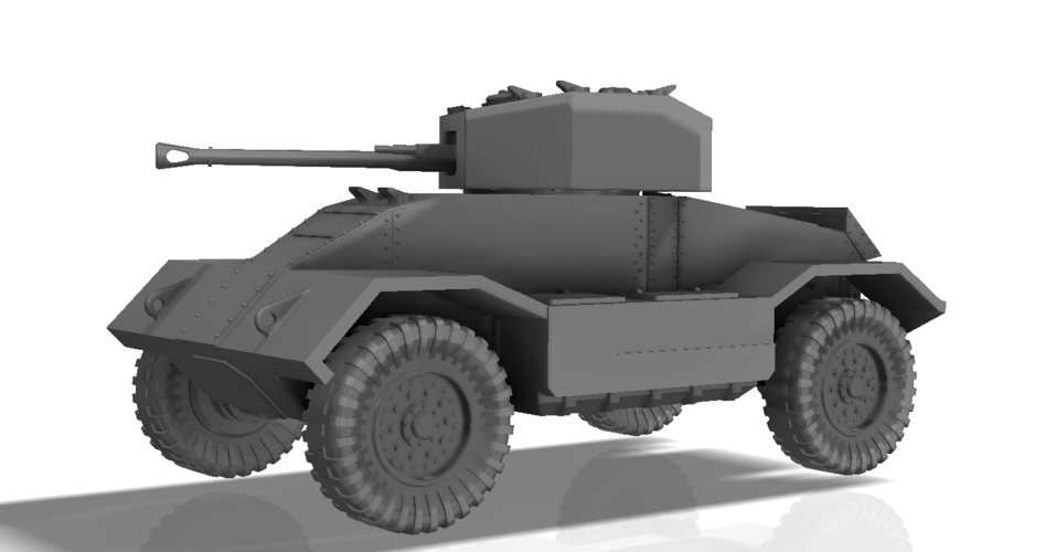 BRITISH ARMORED CAR, HEAVY, WWII 3D Print 196435