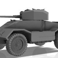 Small BRITISH ARMORED CAR, HEAVY, WWII 3D Printing 196435