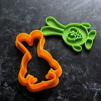 Small Cake cookie cutter Rabbit 3D Printing 196589