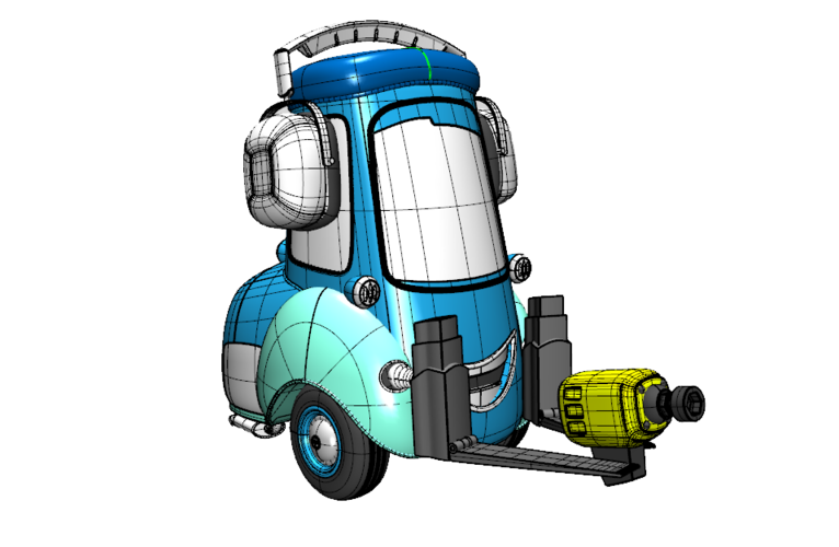 Guido Cars Forklift 3D Print 196610
