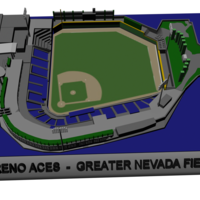 Small Reno Aces-Gtr Nevada Field 3D Printing 196831