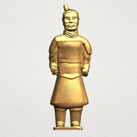 Small Xi an Warrior 01 3D Printing 197027
