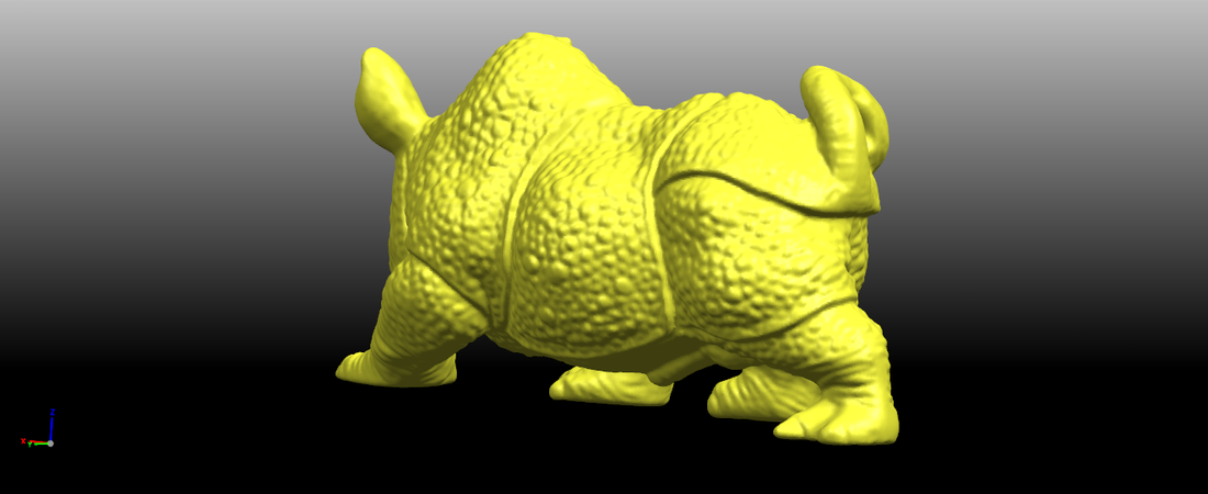 Rhinoceros 01Male 3D Print 197081