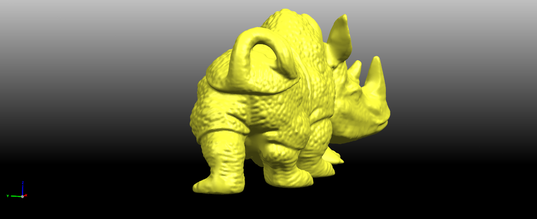 Rhinoceros 01Male 3D Print 197082