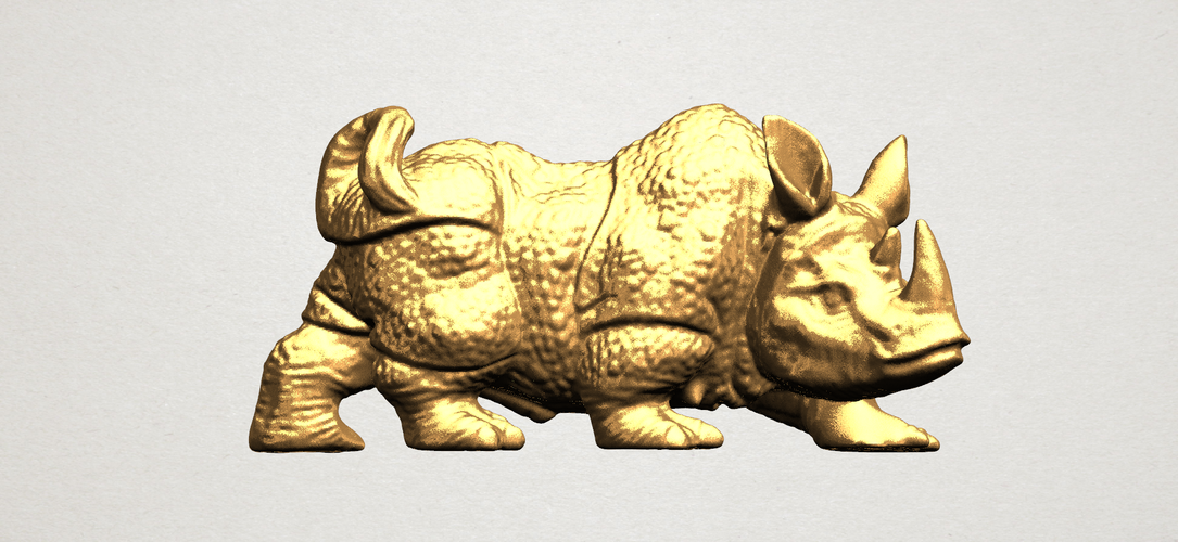 Rhinoceros 01Male 3D Print 197086