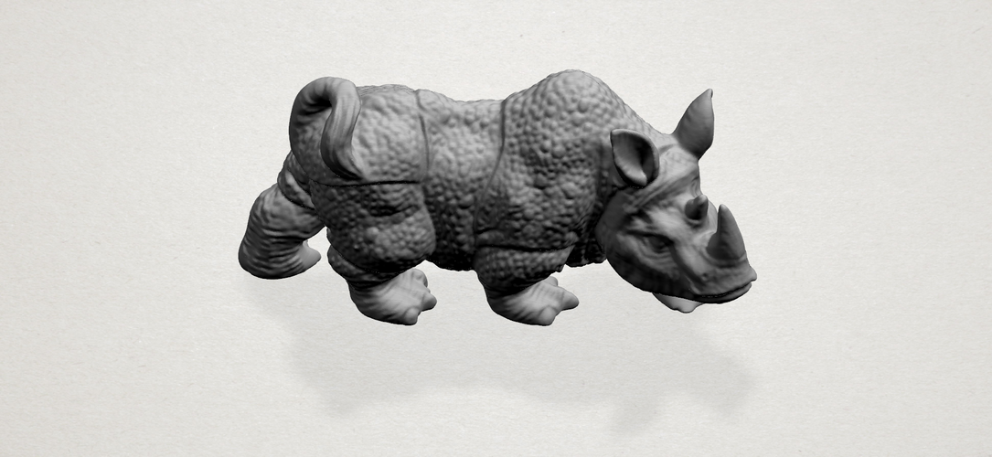 Rhinoceros 01Male 3D Print 197093