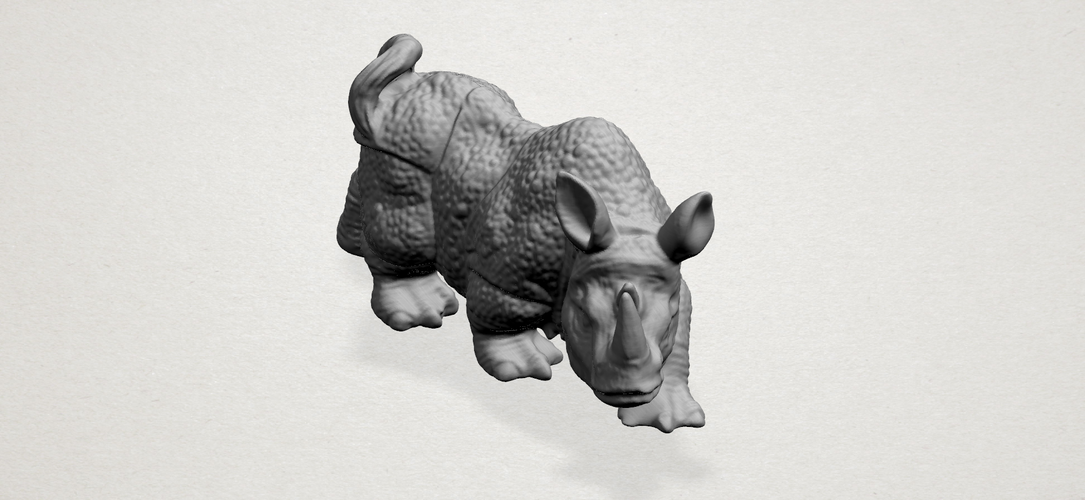 Rhinoceros 01Male 3D Print 197094