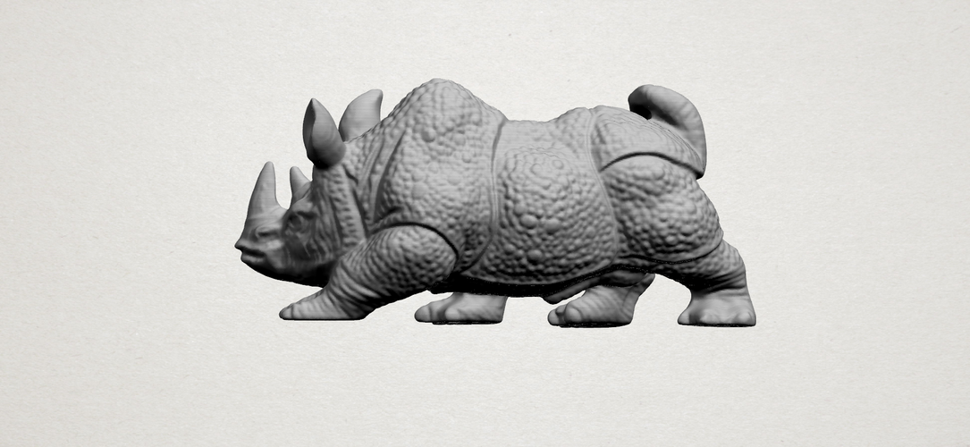 Rhinoceros 01Male 3D Print 197096
