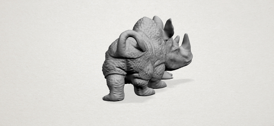 Rhinoceros 01Male 3D Print 197097