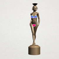 Small Naked Girl with Vase on Top 01 3D Printing 197238