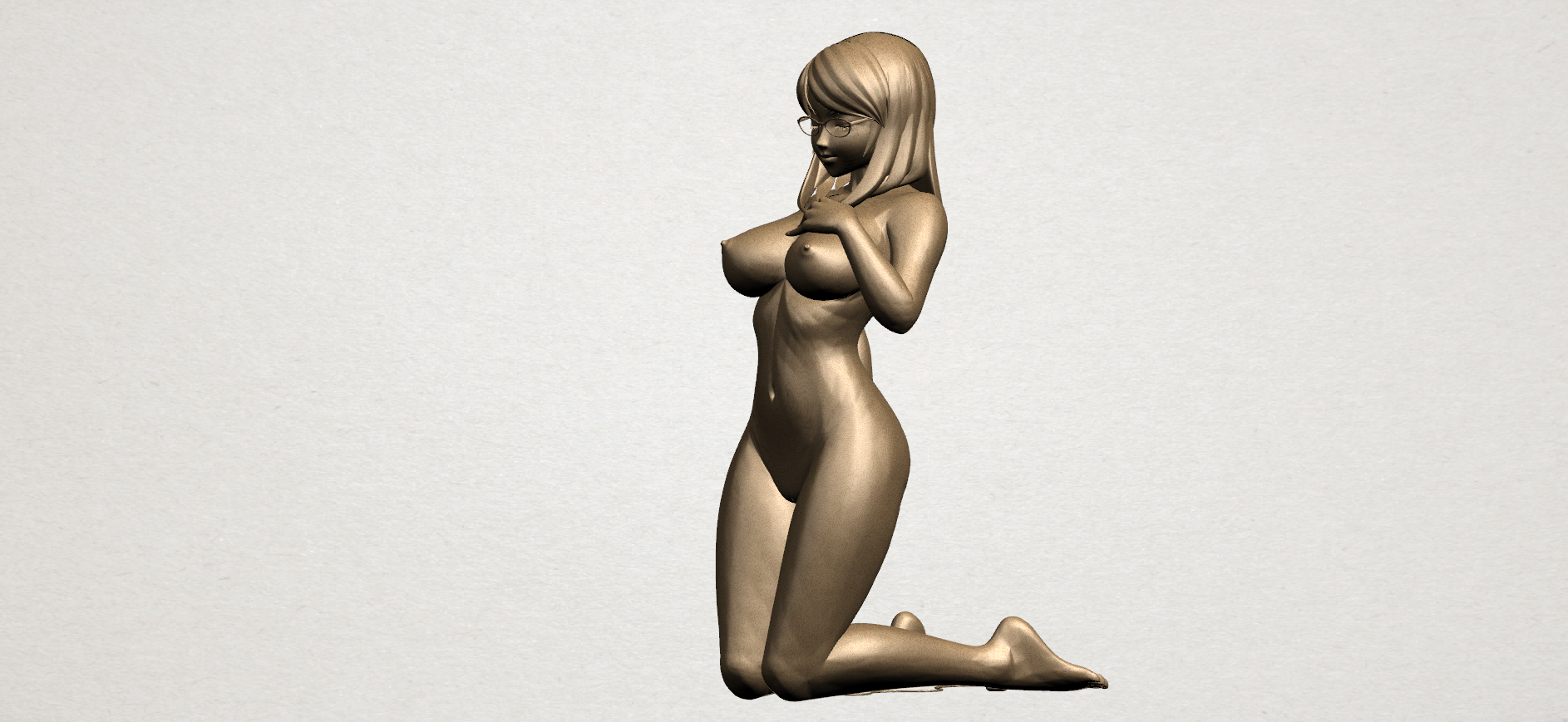 Naked girl - bended knees 01 @ Pinshape