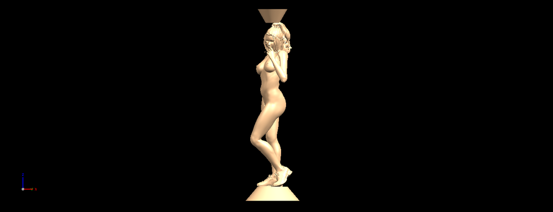 Naked girl with vase on top 02 3D Print 197317