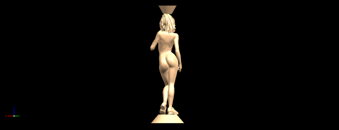 Naked girl with vase on top 02 3D Print 197321