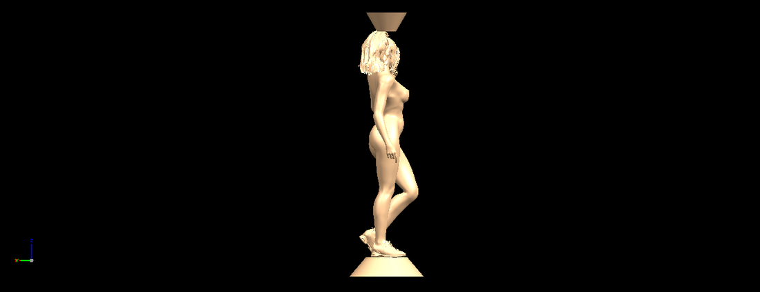 Naked girl with vase on top 02 3D Print 197323