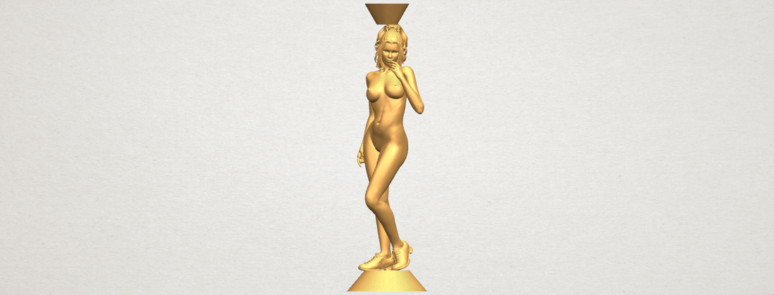 Naked girl with vase on top 02 3D Print 197327