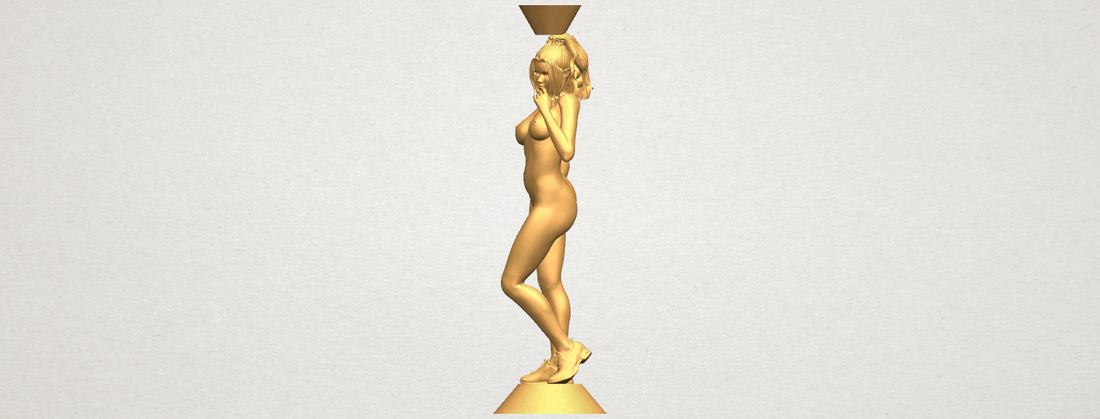 Naked girl with vase on top 02 3D Print 197328