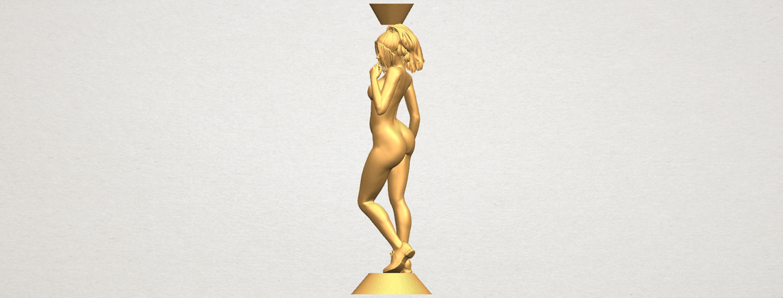 Naked girl with vase on top 02 3D Print 197329