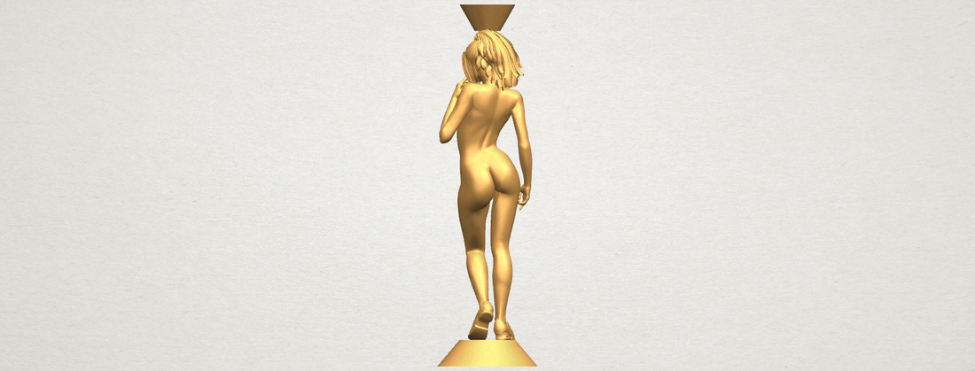 Naked girl with vase on top 02 3D Print 197330