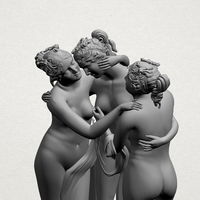 Small Sculpture of Three Grace 01 3D Printing 197400