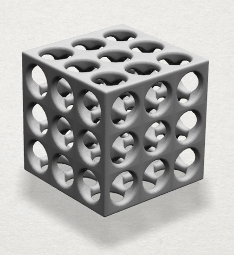 Necklaces -Magic Cube 3D Print 197424