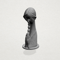 Small Asian Girl 02 3D Printing 197426