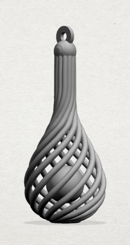 Necklace - Twisted Vase 3D Print 197448