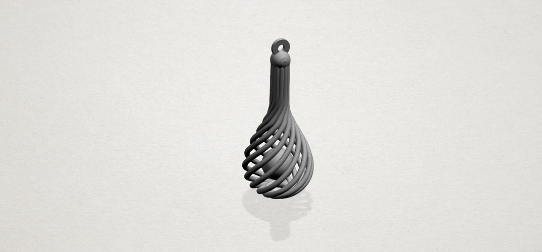 Necklace - Twisted Vase 3D Print 197450