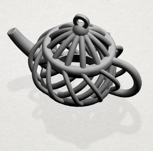 Necklaces -Tea pot 3D Print 197455