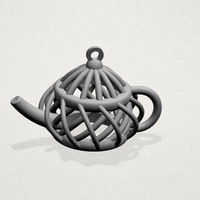 Small Necklaces -Tea pot 3D Printing 197457
