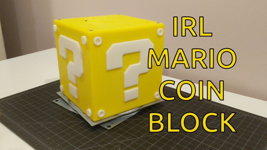 Working Mario Coin Block  3D Print 197512