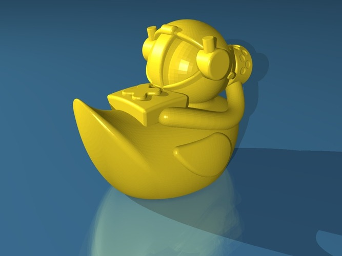 Gas Mask Duck 3D Print 19782