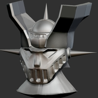 Small Mazinger Z Head 3D Printing 197827