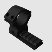 Small Picatinny Scope Mount Ø30mm 3D Printing 197853