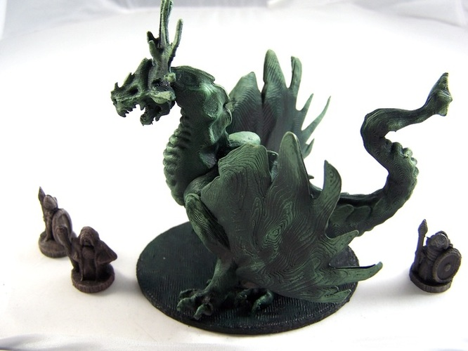 Forest Dragon 3D Print 1979