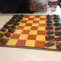 Small WWII Tank Chess Set 3D Printing 19792