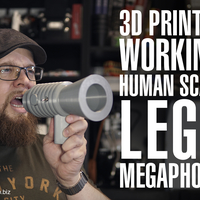 Small Human Scale Working LEGO Megaphone 3D Printing 197998